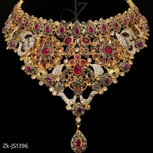Ruby Topaz Bridal Necklace