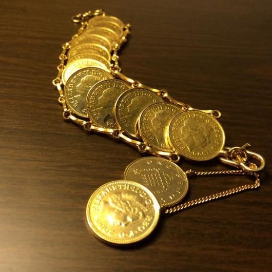 Gold Coin Bracelet!