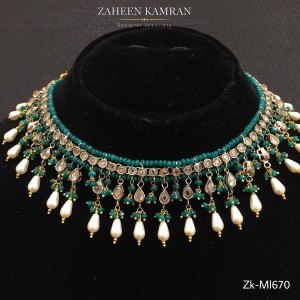 Champagne-Emerald Necklace!