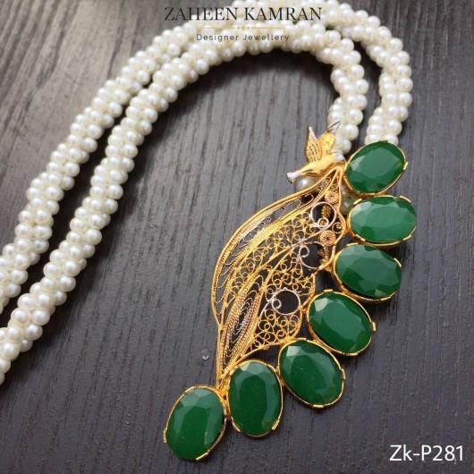 Emerald Birdie Pendant!