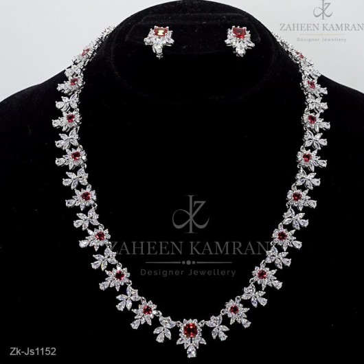 Overlapping Ruby Necklace