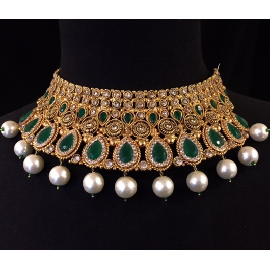 Emerald Bridal Choker!