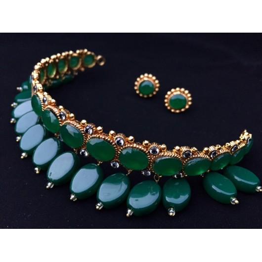 Emerald Drops Choker!