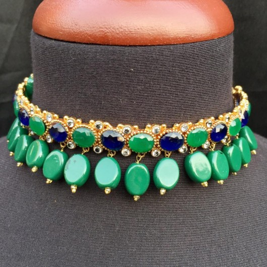Emerald Sapphire Choker!