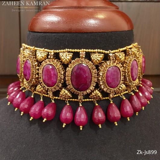 Elegant ruby choker set!