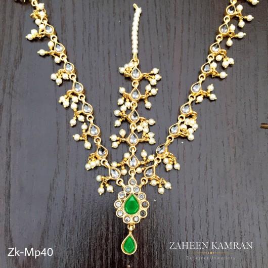 Kundan Emerald Maatha Patti!