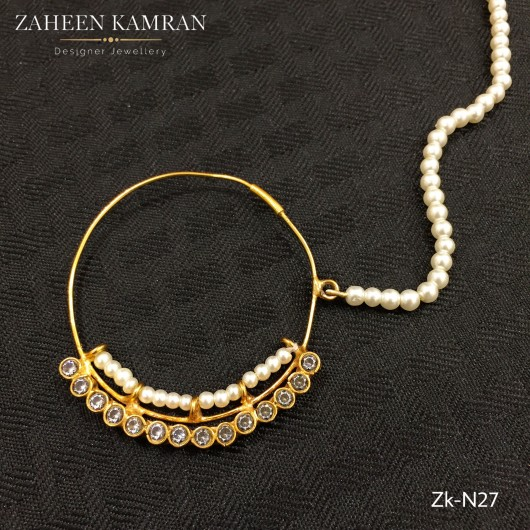 Pearl Zirconian Nose Ring!