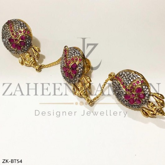 Ruby Zircon Buttons