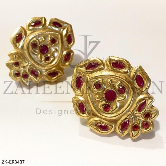 Ruby Gold Earrings