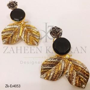 Agate Leaf Earrings
