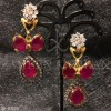 Ruby Zircons Necklace Set