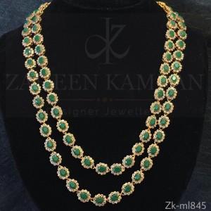 Emerald Polki Haar