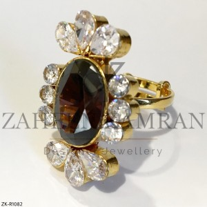 Champagne Zircon Ring
