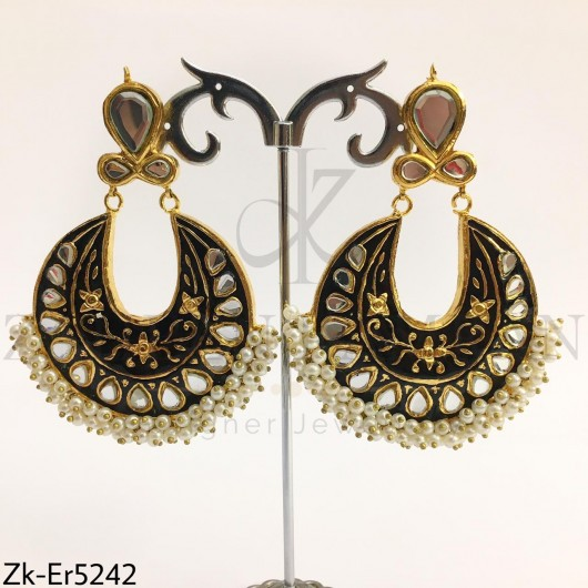 Black Meena Earrings