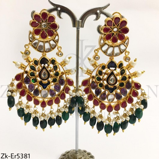 Kundan Chunky Earrings