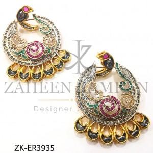 Fabulous Peacock Design Zircon Baaliyan