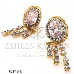 Zircon Teardrop Gold-plated Stunning Earrings