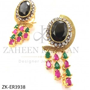 Agate & Colorful Teardrop Gold-plated Stunning Earrings