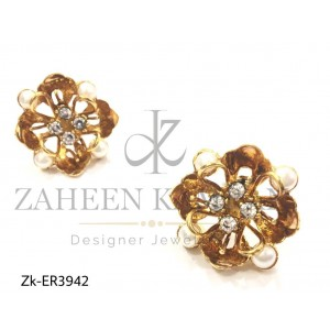 Pearl Sophistication Beautiful Floral Earrings