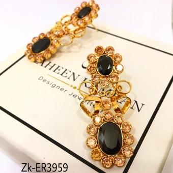 Agate & Champagne Zircon Stunning Earrings