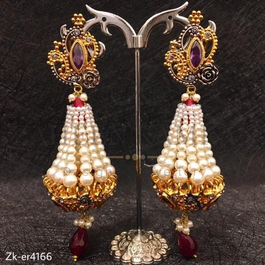 3 Step Pearl Earrings