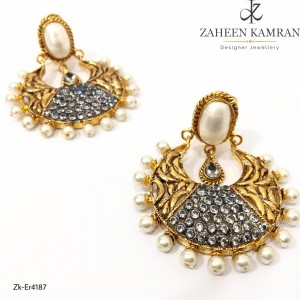 Gold Plated Pearls Earrings