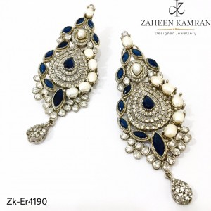 Blue Marquise Earrings