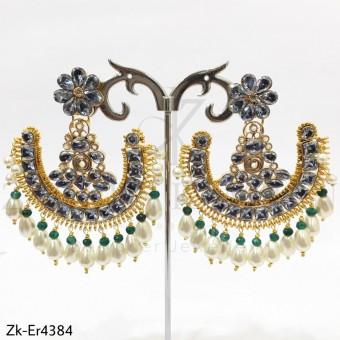 Zircons Round Earrings