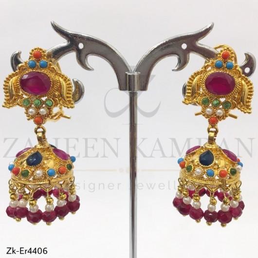 Ruby Cultural Topaz Earrings