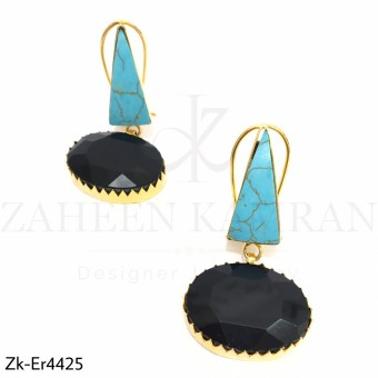 Triangular Turquoise Earrings