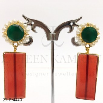 Emerald Floral Earrings