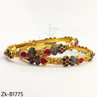 Sapphire ruby bangles