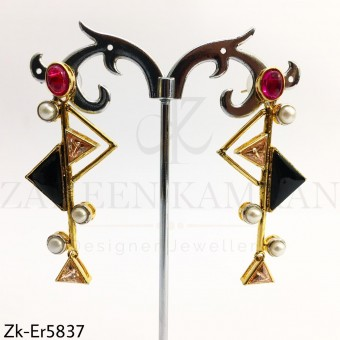 Triangular statement earrings
