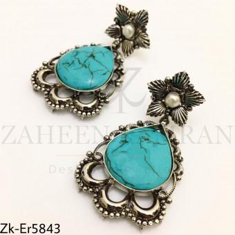 Feroza floral earrings