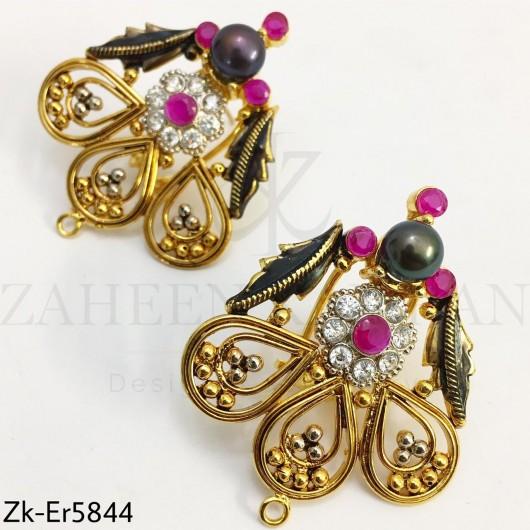 Agate ruby earrings