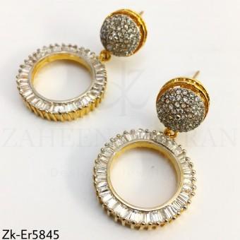 Zirconian round earrings