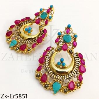 Ruby feroza earrings