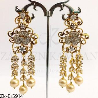 Golden Zirconian earrings