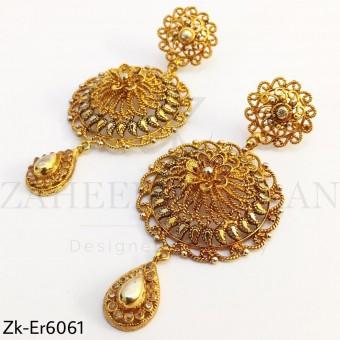 Floral Golden earrings