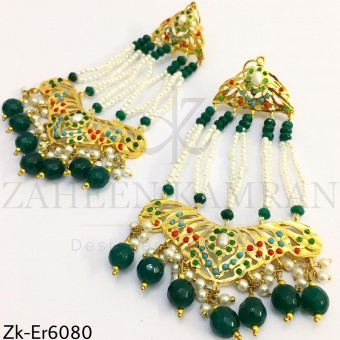 Jhumar cut earrings