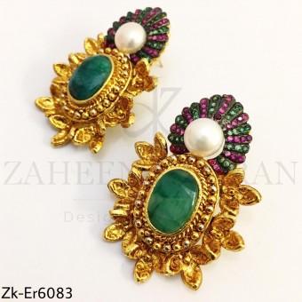 Gold bold earrings