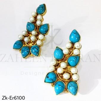 Feroza pearls earrings