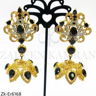 Champagne jhumki earrings
