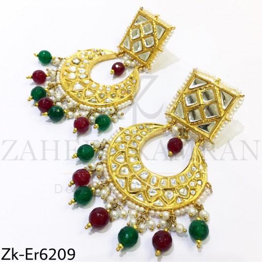 Kundan seesh earrings