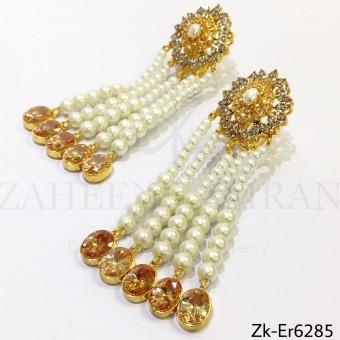 Champagne  pearls earrings
