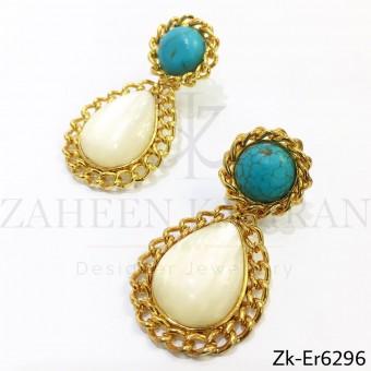 Feroza opal earrings