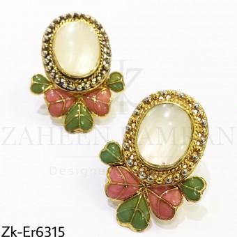 Stylish meena earrings