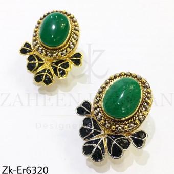 Marbled meena earrings