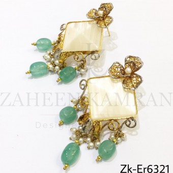 Opal classy earrings
