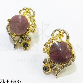 Marbled stones earrings